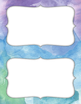 Blank Poster Templates (5.5x8.5) Premium Collection: Watercolor