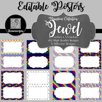 Blank Poster Templates (5.5x8.5) Rainbow Collection: Jewel