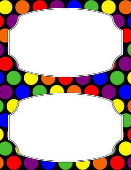 Blank Poster Templates (5.5x8.5) Rainbow Collection: Primary