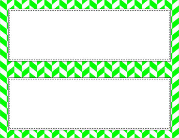 Blank Poster Templates (11x4.25) Essentials: Divided Chevron