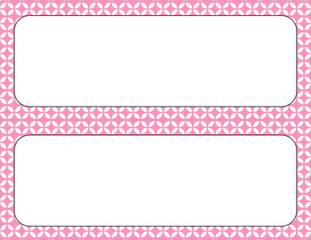 Blank Poster Templates (11x4.25) Essentials & White: Circle Flowers (Inverted)