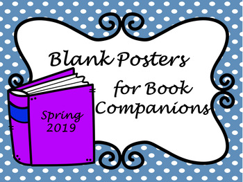 Blank Posters for Book Companions Spring 2019