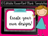 Blank Powerpoint Backgrounds- 10 designs