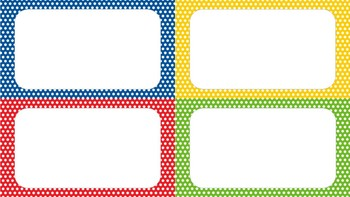 Blank Primary Color Labels