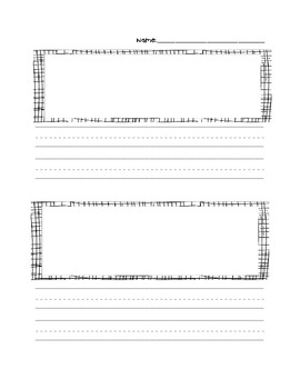 Blank Primary Paper with 2 Picture and Writing Spaces