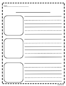 Blank Primary Writing Templates for How to Writing or Beginning, Middle, End
