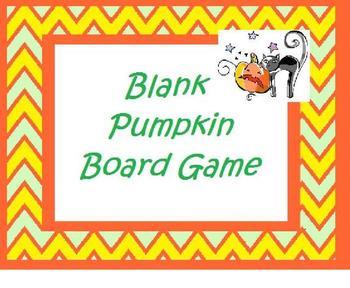 Blank Pumpkin Board Game