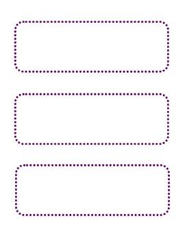 Blank Purple Dot Cards