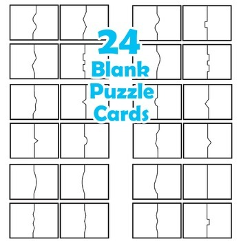 Puzzle Cards - Blank Puzzle Clipart