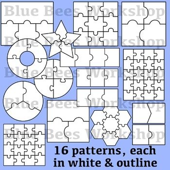 Blank Puzzle Clip Art