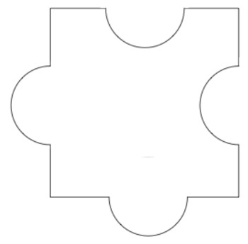 photograph relating to Blank Puzzle Pieces Printable named Blank Puzzle Areas Worksheets Coaching Elements TpT