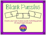 Blank Puzzles: 2-Piece