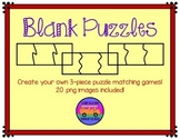 Blank Puzzles: 3-Piece