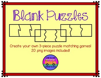 blank puzzle teaching resources teachers pay teachers