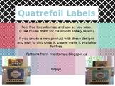 Blank Quatrefoil Classroom Labels
