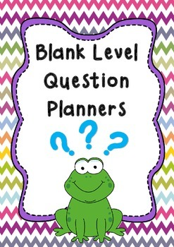 Blank Question Guide & Planner {Higher Order Thinking Skills}
