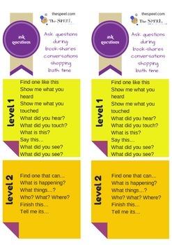 Blank Questions Bookmark - Speech Pathology