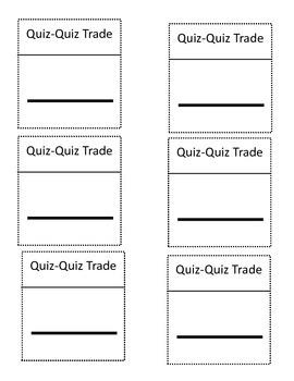 Blank Quiz-Quiz Trade Cards