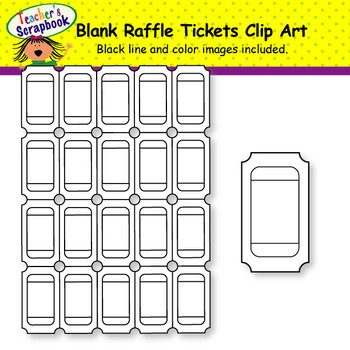 Blank Raffle, Circus, Seasonal Tickets Clip Art BUNDLE