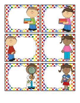 Blank Rainbow Kids Labels