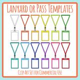 Blank Rainbow Lanyard / Hall Pass / VIP Pass Etc Templates Clip Art Commercial