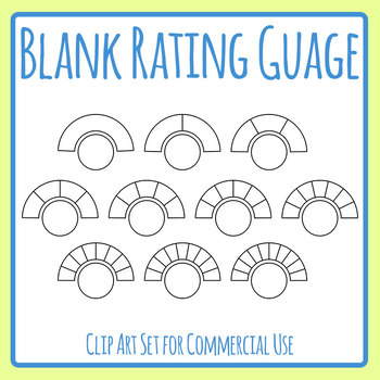Blank Rating Gauge Template Clip Art Set for Commercial Use