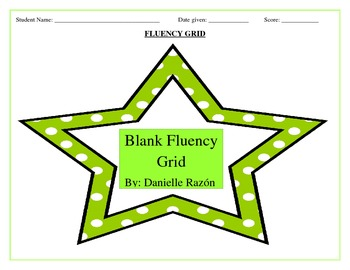 Blank Ready to Use Fluency Grids