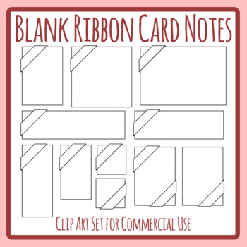 Blank Ribbon Header Cards Signs Clip Art Templates Commercial Use