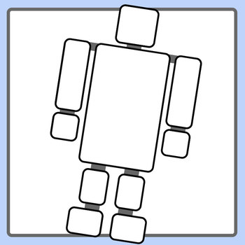 Blank Robot Templates / Technology Graphic Organizers Clip Art Commercial Use
