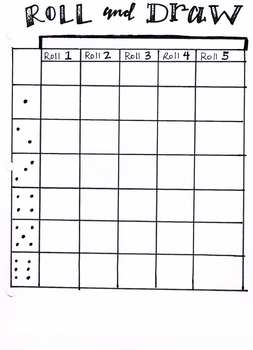 Blank Roll and Draw Game