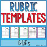 Blank Rubric Templates