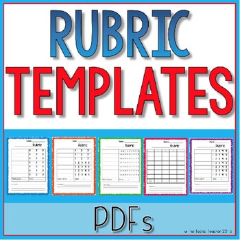 Blank Rubric Template Teaching Resources  Teachers Pay Teachers