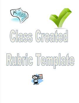 Blank Rubric for Class Created Rubrics