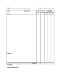 Blank Running Records Scoring Sheet