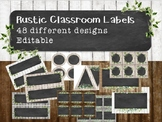 Blank Rustic Farmhouse Labels 48 pages of EDITABLE shapes and designs!