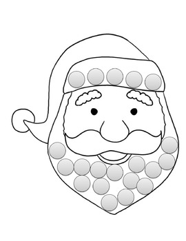 Blank Santa Template: Can Differentiate for Everyone