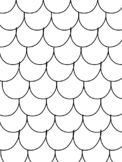 Blank Scalloped/Fin/Scales Patterned Coloring Pages