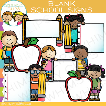 Blank Signs for School Clip Art