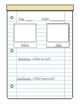 Science Experiment Journal- Blank Template