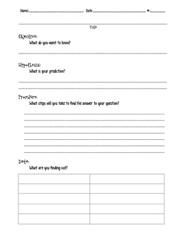 Blank Science Lab Experiment Template