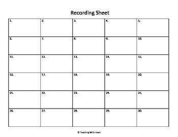 Blank Scoot Recording Document