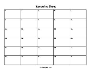 Blank Scoot Recording Document