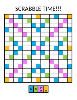 Blank Scrabble Board By Tiffani Giosa