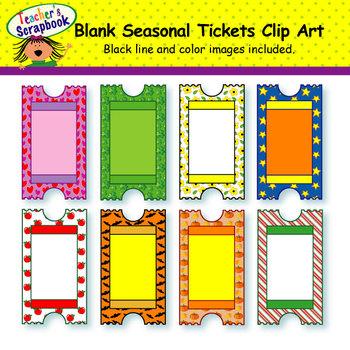 Blank Seasonal Tickets Clip Art