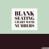 Blank Seating Chart with Numbers