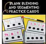 FREEBIE Blank Segmenting and Blending Cards {3-4 letters}