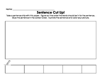 Blank Sentence Cut Up - 1st