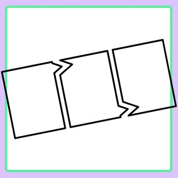 Blank Sequencing Rectangles Template Clip Art Set Commercial Use