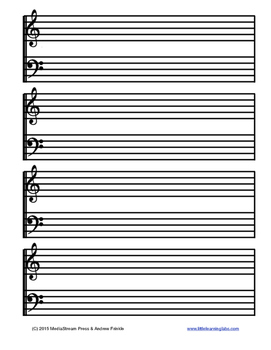 Blank Sheet Music - 4 Styles