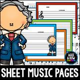 Blank Sheet Music (50) Manuscript Sheets - Classical, Pian
